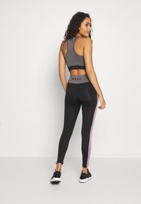 Missguided - ZIP FRONT CROP AND LIME INSERT PANEL SET - Leggings - Trousers - grey - 2