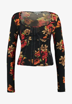 LONG SLEEVE CORSET SEAM - Topper langermet - multi