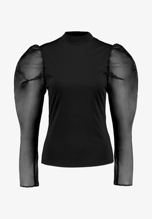 PUFF LONG SLEEVE HIGH NECK  - Camiseta de manga larga - black