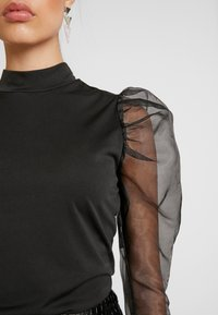 Missguided - PUFF LONG SLEEVE HIGH NECK  - Long sleeved top - black - 5