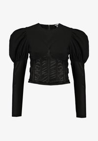 Missguided - INSERT CORSET PUFF SLEEVE - Blouse - black - 4