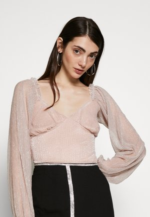 SHIMMER MILKMAID LONG SLEEVE BODYSUIT - Long sleeved top - pink