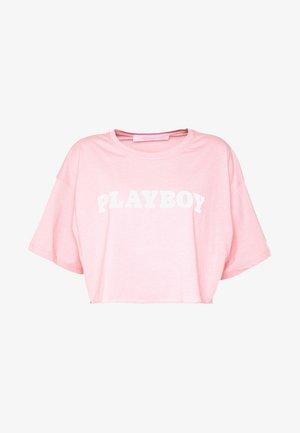 PLAYBOY CROPPED LOUNGE TEE - T-shirt imprimé - pink