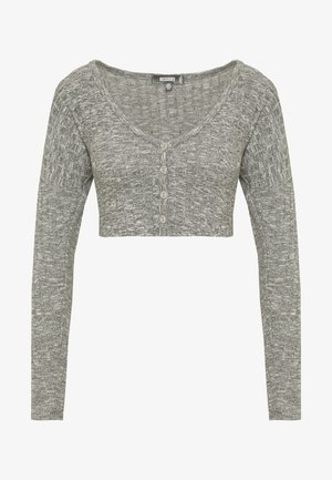 BUTTON UP SNIT TOP  - Long sleeved top - grey