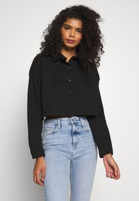 Missguided - BAD INFLUENCE CROP - Bluza rozpinana - black - 0