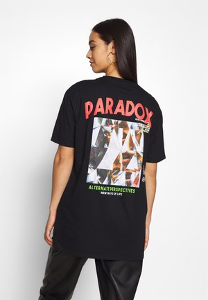 PARADOX BACK PRINT   - T-shirt imprimé - black