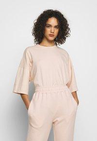Missguided - DROP SHOULDER OVERSIZED 2 PACK - T-shirt basic - black/pink - 0
