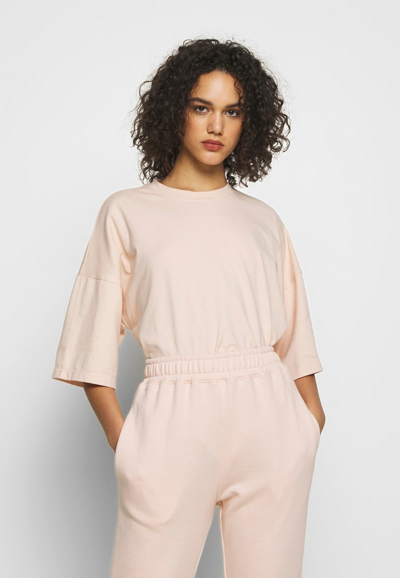 Missguided - DROP SHOULDER OVERSIZED 2 PACK - T-shirt basic - black/pink