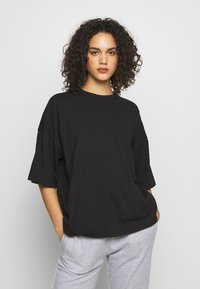 Missguided - DROP SHOULDER OVERSIZED 2 PACK - T-shirt basic - black/pink - 2