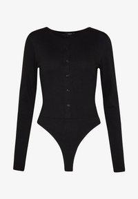 Missguided - BUTTON FRONT LONG SLEEVE BODYSUIT - T-shirt à manches longues - black - 4