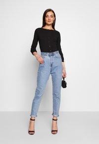 Missguided - BUTTON FRONT LONG SLEEVE BODYSUIT - T-shirt à manches longues - black - 1
