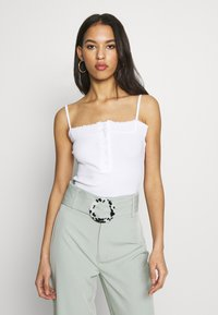 Missguided - LETTUCE EDGE CROP 2 PACK - Débardeur - white/black - 4