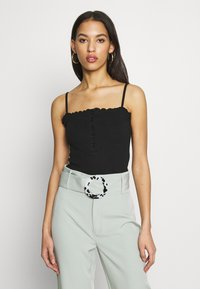 Missguided - LETTUCE EDGE CROP 2 PACK - Débardeur - white/black - 2
