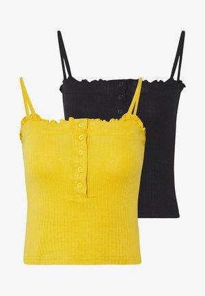 LETTUCE EDGE CROP 2 PACK - Topper - black/mustard yellow