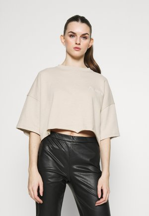 CROPPED SIGNATURE TOP  - T-shirts - nude