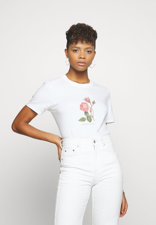 ALRIGHT PETAL ROSE - T-shirts print - white