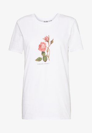 ALRIGHT PETAL ROSE - T-shirts med print - white