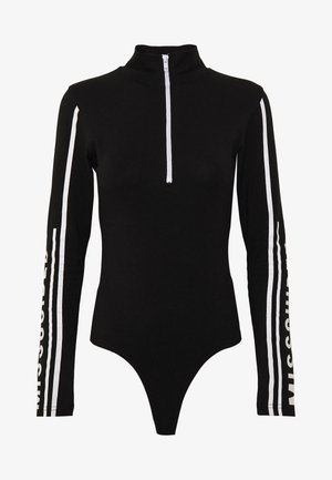 LISSY RODDY GRAPHIC SLEEVE ZIP FRONT HIGH NECK - Long sleeved top - black