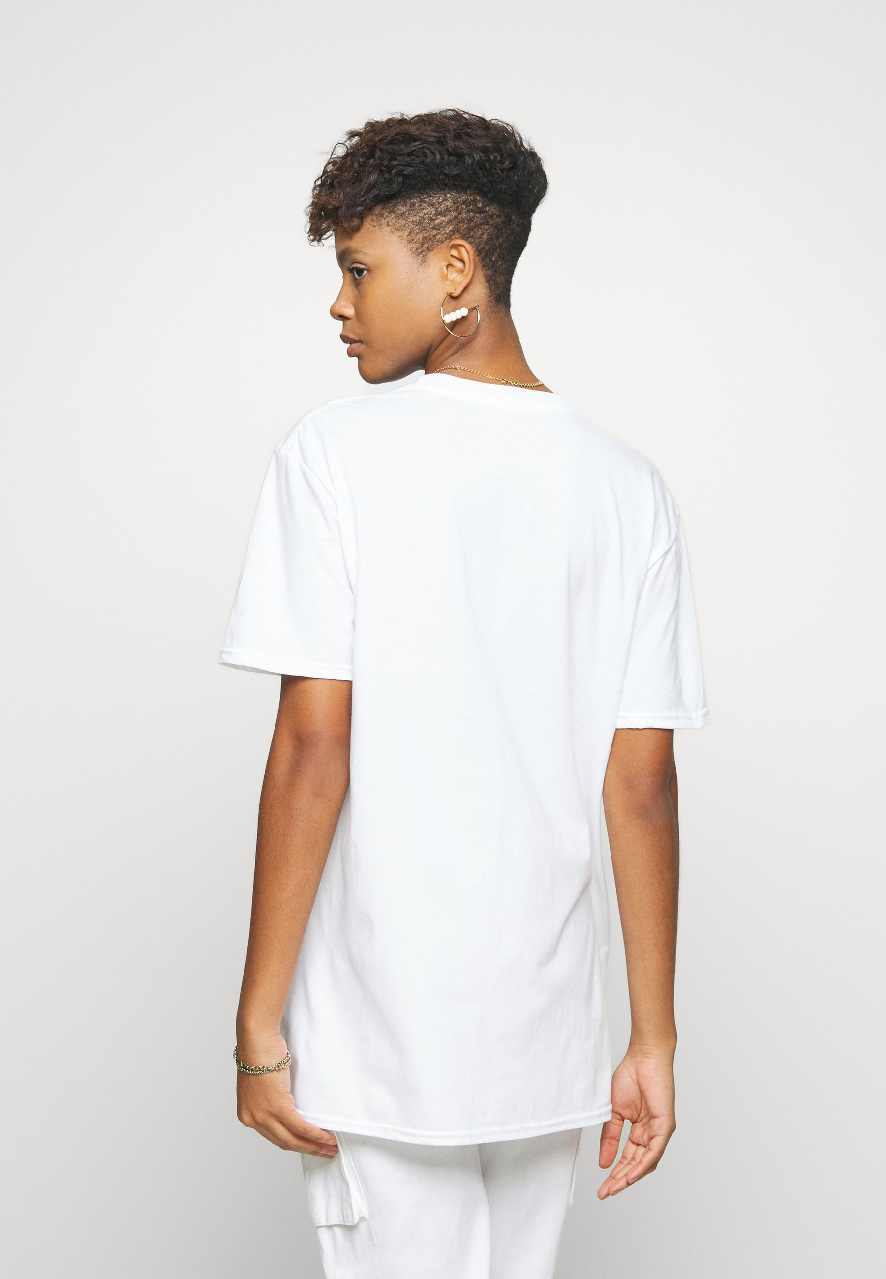 Missguided MILANO GRAPHIC SHORT SLEEVE  - T-shirts med print - white