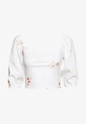DITSY FLORAL MILKMAID CROP - Print T-shirt - white