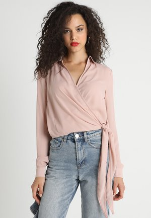 WRAP OVER TIE SIDE BLOUSE - Camicetta - pink
