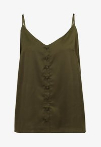 Missguided - BUTTON FRONT STRAPPY CAMI - Top - khaki - 3