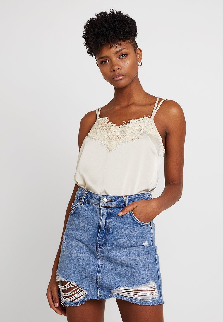 Missguided - TRIM CROSS BACK CAMI - Top - nude