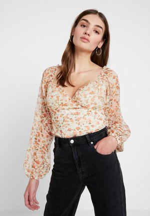 MILKMAID DITSY FLORAL LONG SLEEVE BODYSUIT - Bluser - orange