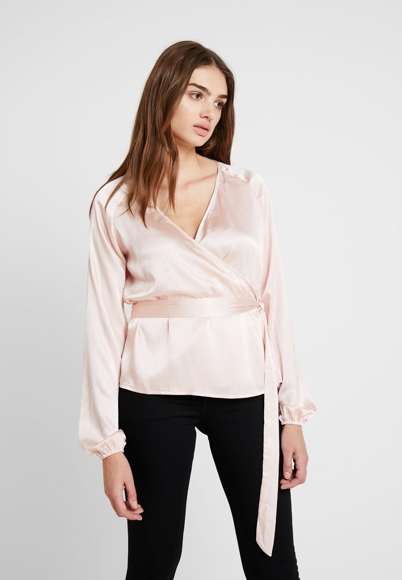 Missguided - WRAP TIE WAIST BLOUSE - Bluser - blush