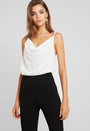 COWL FRONT STRAPPY BODYSUIT - Top - white
