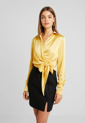 WRAP FRONT SIDE TIE - Blouse - gold