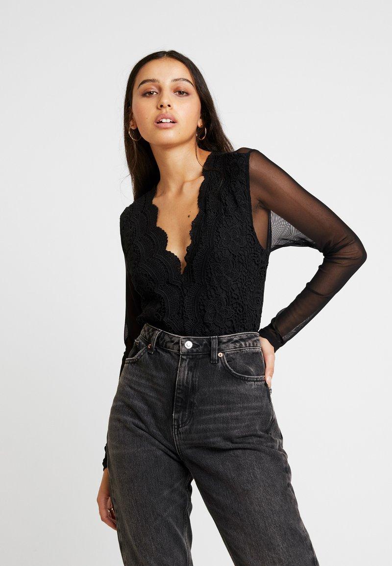 Missguided - FRONT BODYSUIT - Bluse - black