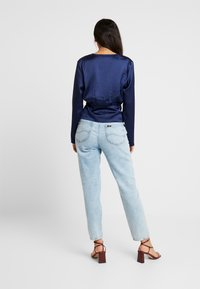Missguided - WRAP BUTTON - Blus - navy - 2