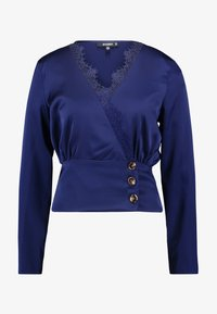 Missguided - WRAP BUTTON - Blus - navy - 4