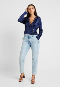 Missguided - WRAP BUTTON - Blus - navy - 1