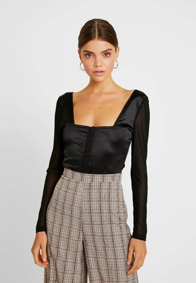 Missguided - SLEEVES CORSET - Blouse - black