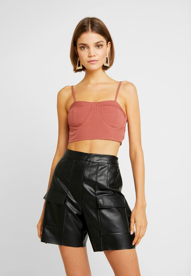 PADDED STRAPPY BRALET - Top - pink