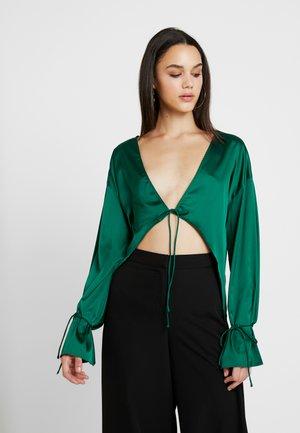 TIE FRONT - Blusa - green