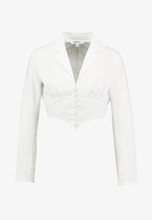 PLUNGE CORSET STYLE SHIRT - Bluser - white