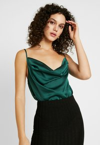 Missguided - COWL NECK BODYSUIT - Top - green - 0