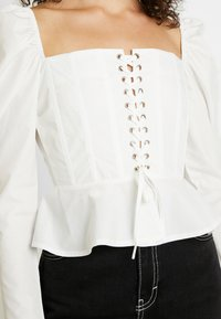 Missguided - SQUARE NECK UP PEPLUM - Camicetta - white - 3