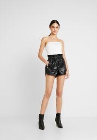 Missguided - HIGH BUST POINT CORSET BANDEAU BODYSUIT - Toppi - white - 1
