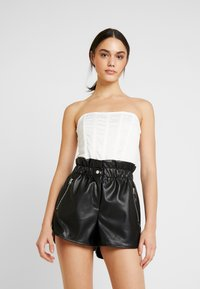 Missguided - HIGH BUST POINT CORSET BANDEAU BODYSUIT - Toppi - white - 0