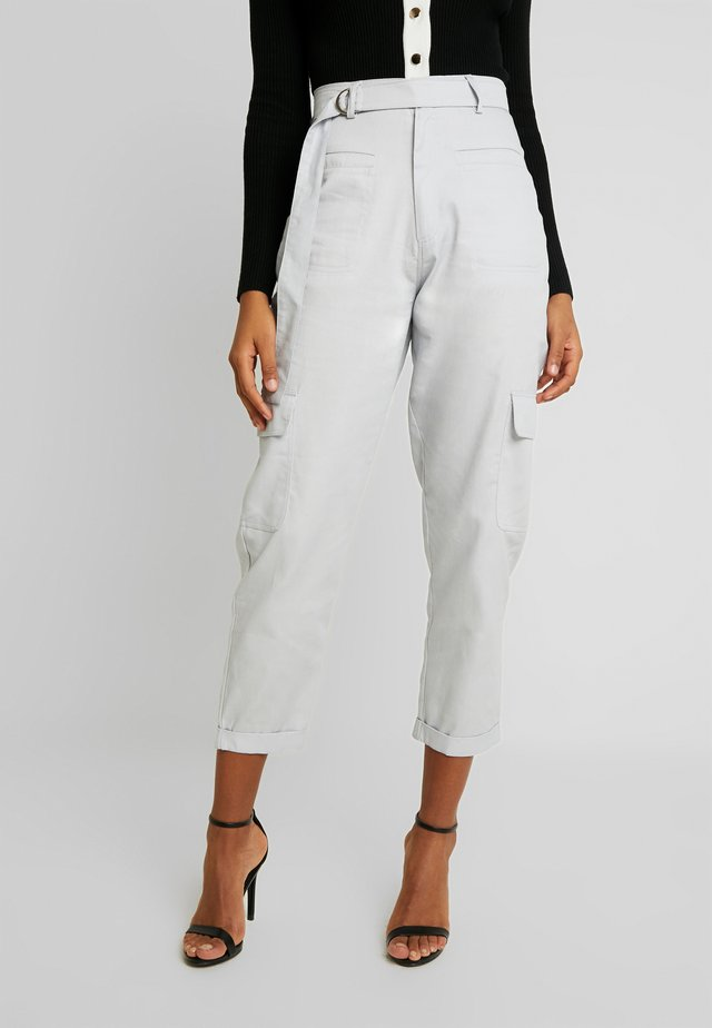 D-RING TROUSERS - Stoffhose - grey
