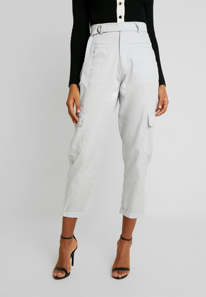 Missguided - D-RING TROUSERS - Broek - grey
