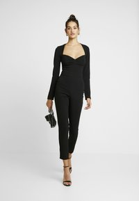 Missguided - LONGSLEEVE SWEETHEART UNITARD - Overal - black - 1