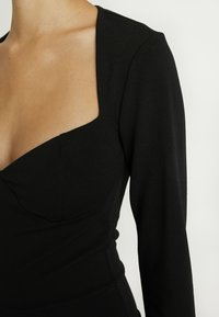Missguided - LONGSLEEVE SWEETHEART UNITARD - Overal - black - 5