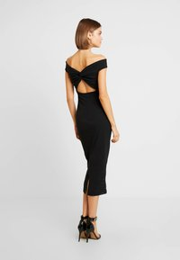 Missguided - BARDOT TWIST DETAIL MIDI DRESS - Vestito elegante - black - 3
