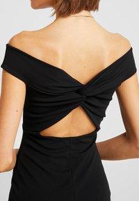 Missguided - BARDOT TWIST DETAIL MIDI DRESS - Cocktail dress / Party dress - black - 6