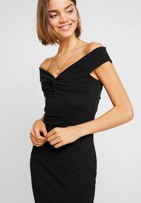Missguided - BARDOT TWIST DETAIL MIDI DRESS - Cocktail dress / Party dress - black - 4